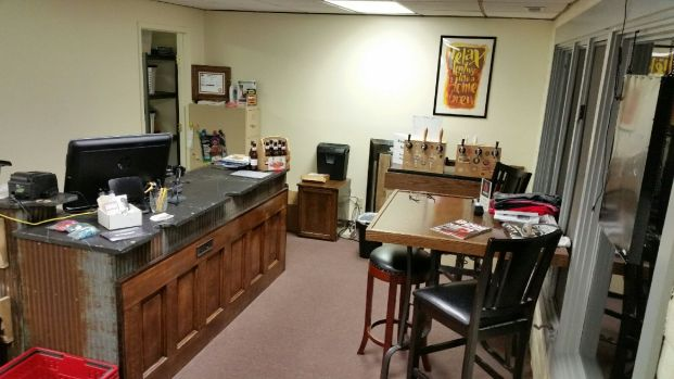 Sales Counter, Keezer, and the Friday Table